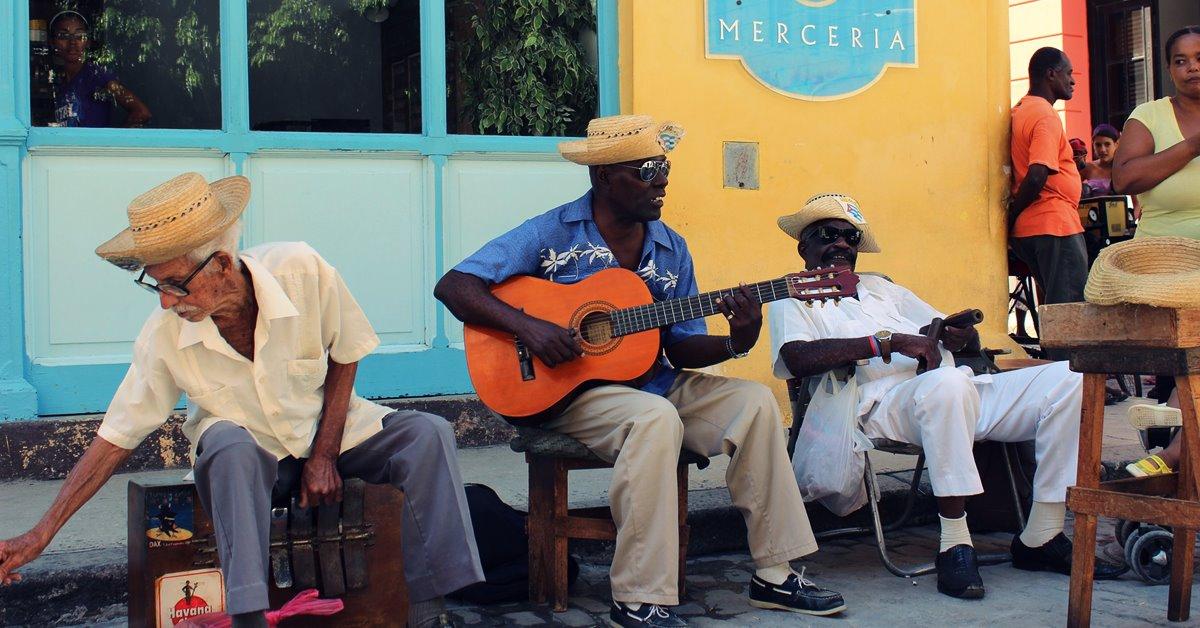 Havana ulični svirači salsa i muzika Kuba