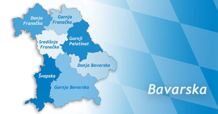 Mapa Bavarske