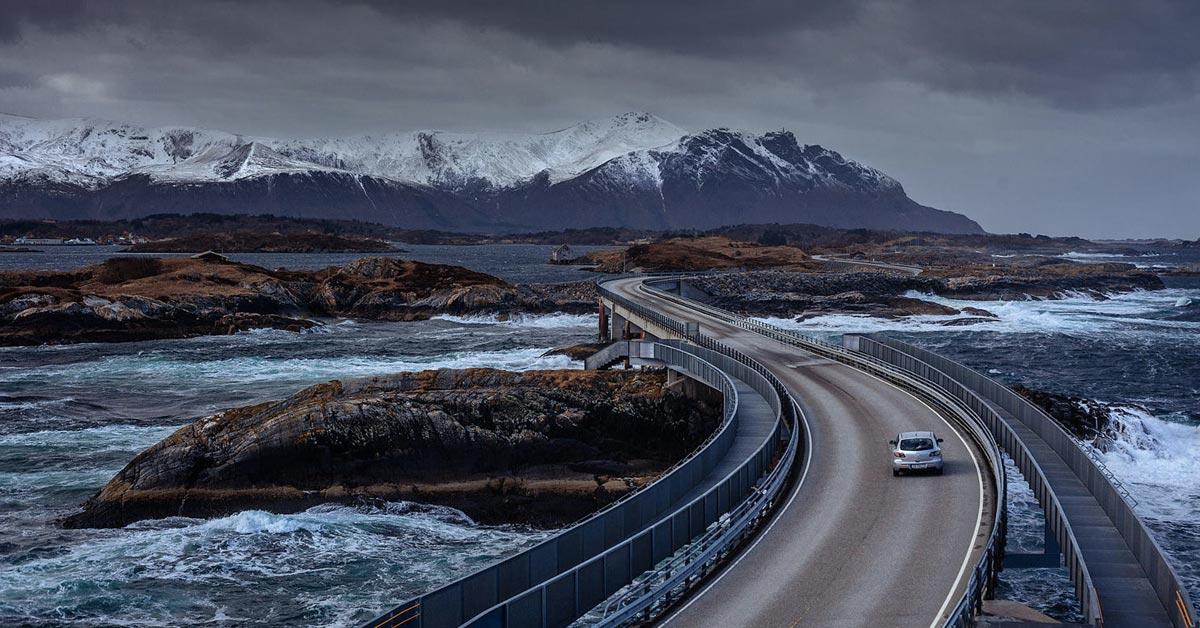 Najbolji put na svetu Norveška atlantski okeanski put