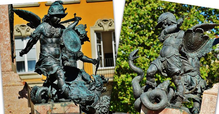 Marienplatz statute umetnost