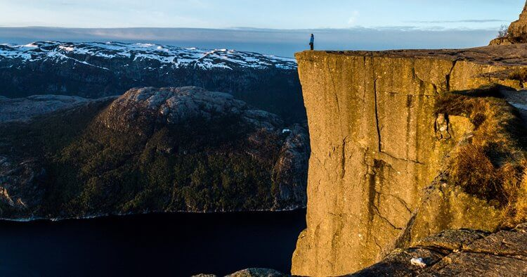 Preikestolen Norveška Google Maps