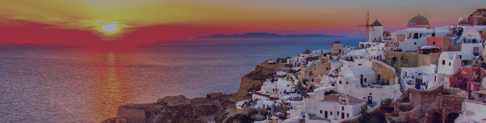 Santorini za letovanje vodič i zalazak Sunca
