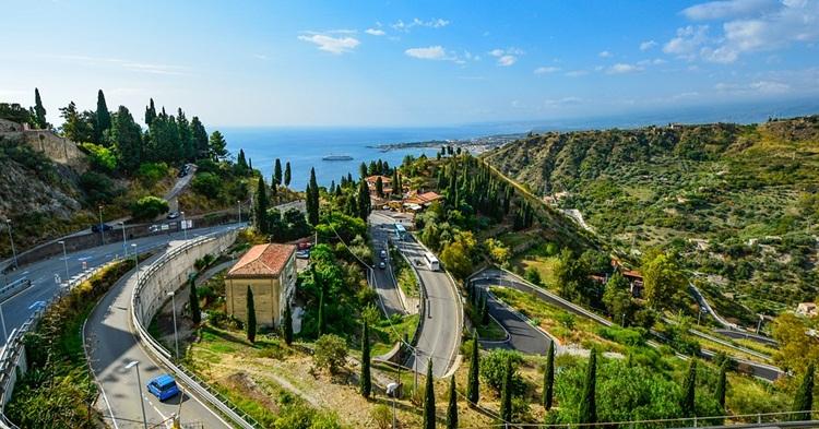 Panorama Taormine na Siciliji