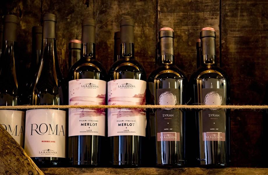 Italijanske boce vina