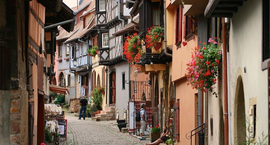 Ulica i arhitektura Alzasa