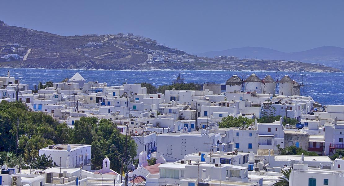 Pogled na ostrvo Mikonos