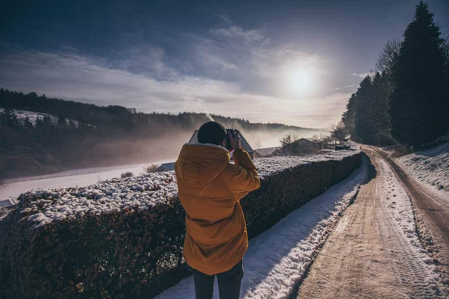Fotograf slika zimski pejzaž