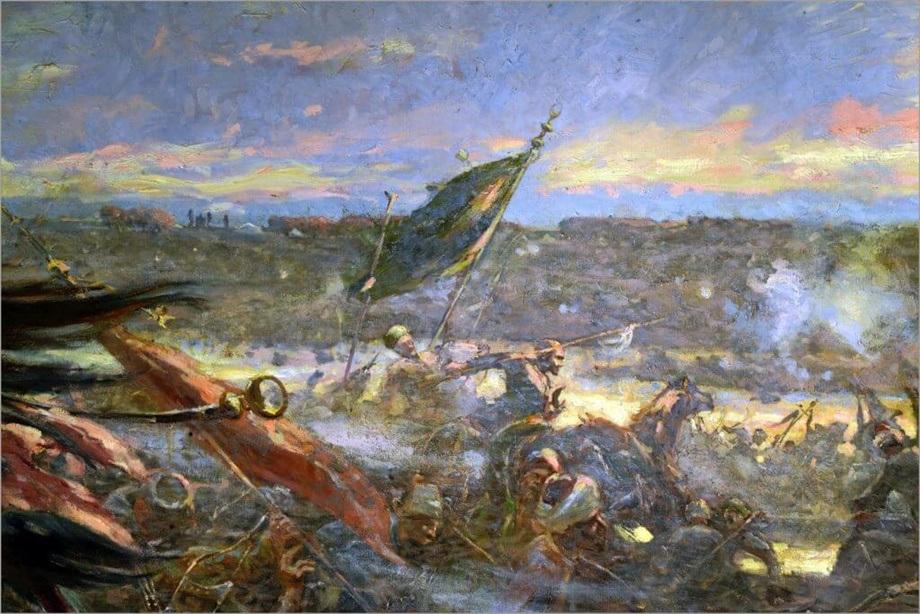 Slika Bitka kod Senta na platnu