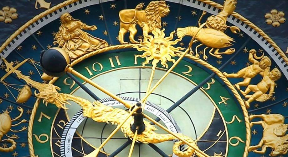 Astrološki sat sa znakovima zodijaka