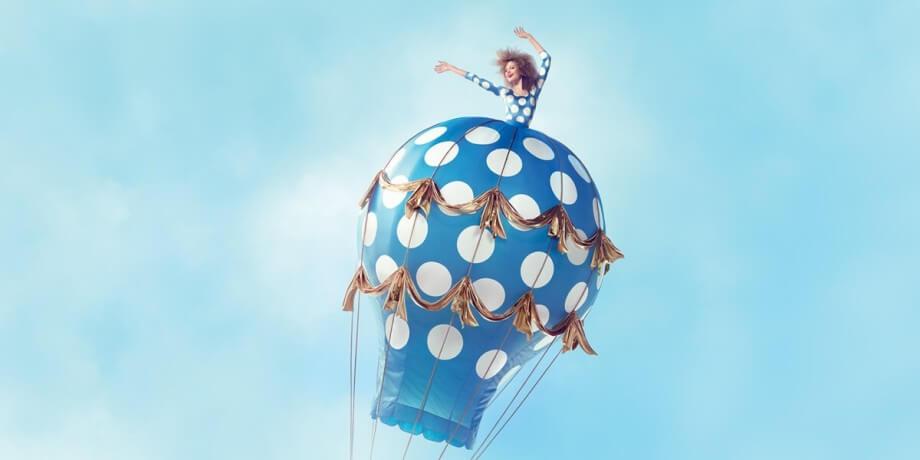 Devojka u balonu, promocija za avio karte