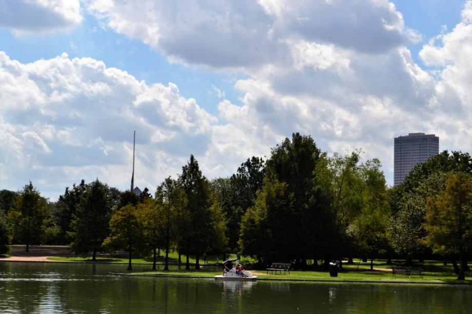 Park i jezero u Hjustonu