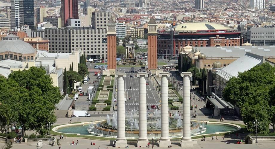 Pogled na ulice i park u Barseloni