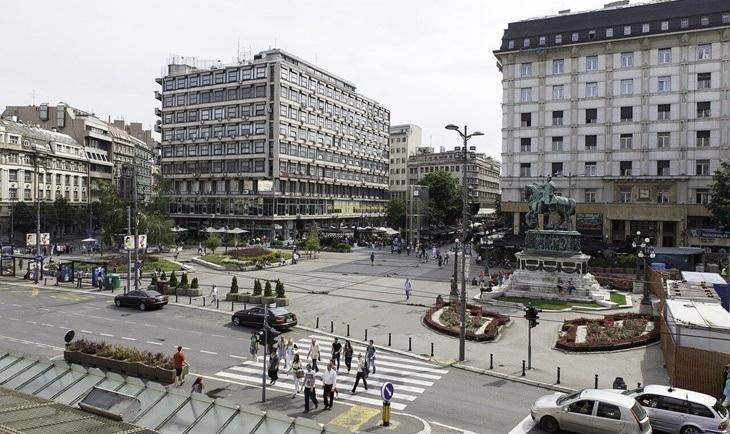 Centralni  trg grada Beograda