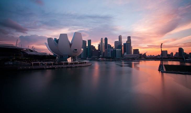 Panorama Singapura u sumrak