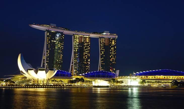 Singapur noćna panorama