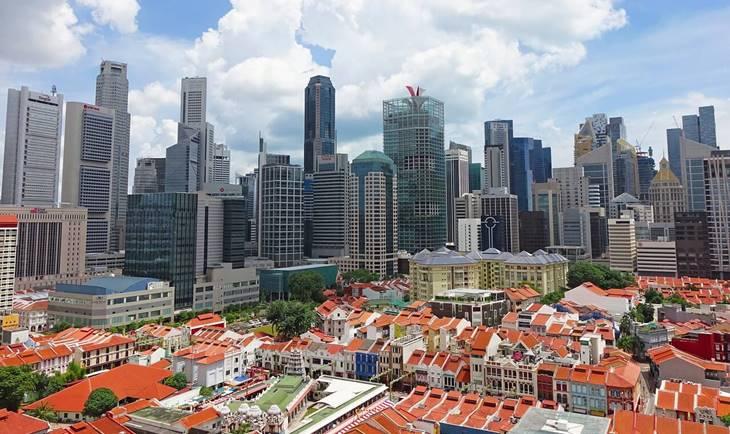 Panorama Singapuru danju