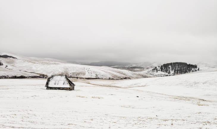 Zlatiborski proplanak zimi sa 1 kolibom