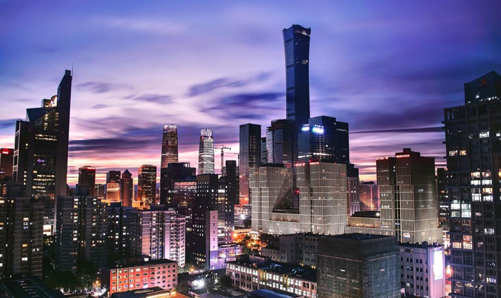 Prikaz Pekinga u sumrak