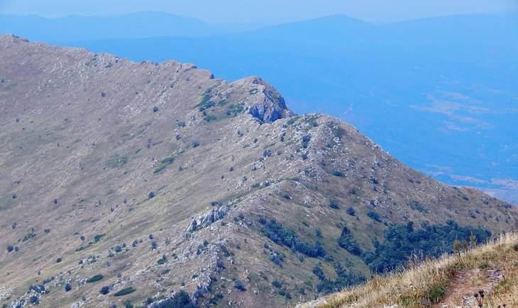 Prikaz vrha planine Rtanj
