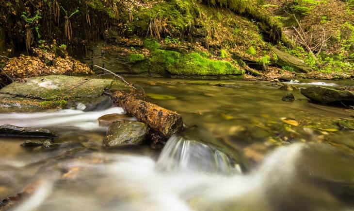 Prikaz potoka i kamenja